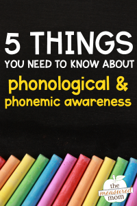 a poster about phonological and phonemic awareness