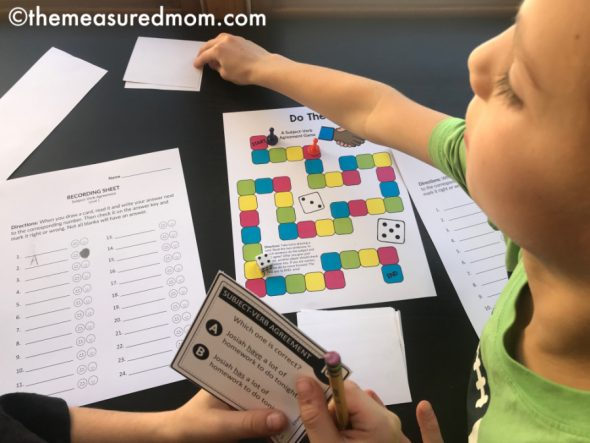 Free Games To Reinforce Subject Verb Agreement Rules The Measured Mom
